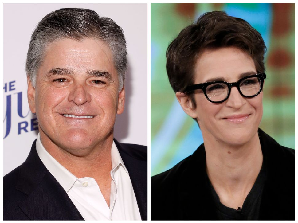 In Hannity vs. Maddow, Polar Opposites Will Go Head to Head