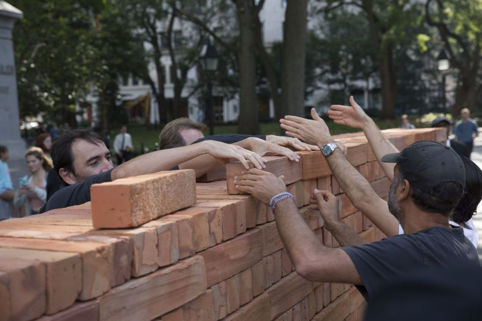 Mexican Artist Bosco Sodi Built a Wall Faster Than Trump