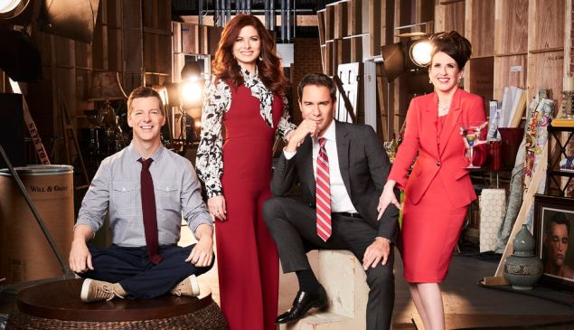 Sean Hayes, Debra Messing, Eric McCormack and Megan Mullally in Will & Grace.