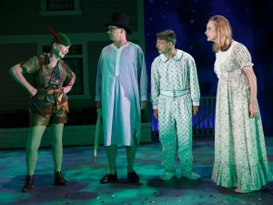 Kathleen Chalfant, Daniel Jenkins, Keith Reddin and Lisa Emery in For Peter Pan on her 70th birthday.