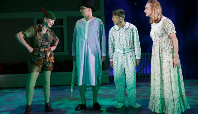 Kathleen Chalfant, Daniel Jenkins, Keith Reddin and Lisa Emery in For Peter Pan on her 70th birthday.