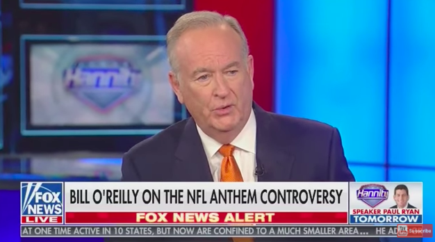 Fox News Bros O'Reilly and Hannity Defend White Race Against NFL