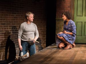C.J. Wilson plays Peter and Ameila Workman plays Susan in On the Shore of the Wide World.