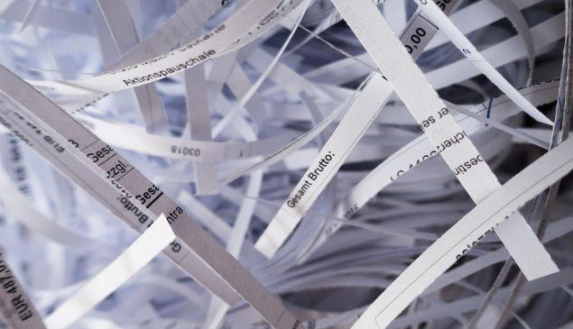 Shredded documents.