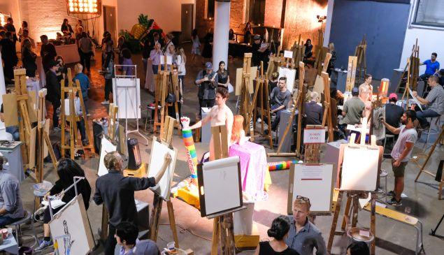 Will Cotton's annual life drawing party, held on September 12, 2017.