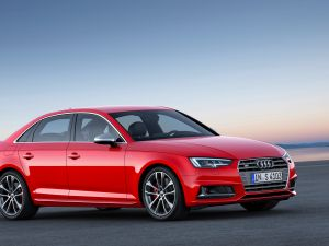 The 2018 Audi S4 in Misano Red.