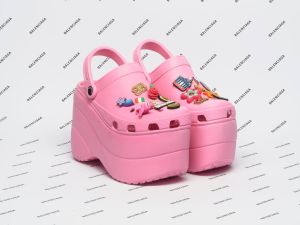 Balenciaga teamed up with Crocs, for this season's most bizarre shoe design. Click through to see the rest of the standout footwear for Spring/Summer 2018.