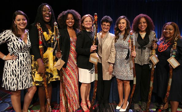 City Council Speaker Melissa Mark-Viverito and representatives of women's organizations at The New York Women's Foundation's women's breakfast in 2016.