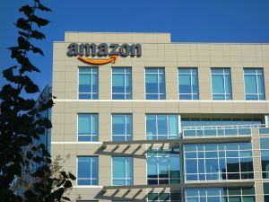 Amazon corporate office building in Sunnyvale, California.