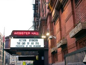 Exterior view of the last show at Webster Hall in New York City in August 2017.