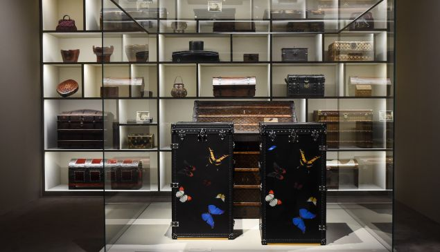 Damien Hirst has put his touch on a Vuitton trunk or two.