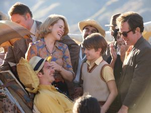 Hugh Bonneville, Claire Foy and Andrew Garfield in Breathe