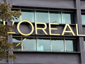 The logo of French group L'Oreal.