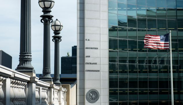 A view of the Securities and Exchange Commission headquarters.