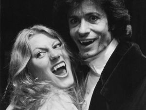 George Chakiris and Geraldine James who appeared in the 1978-1979 production of The Passion of Dracula at The Queen's Theatre in London.