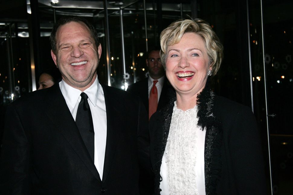 Clinton Foundation Won't Return Harvey Weinstein Contributions