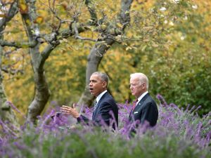 Former President Barack Obama and former Vice President Joe Biden, who only managed sluggish economic growth.