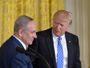 President Donald Trump and Israeli Prime Minister Benjamin Netanyahu on February 15, 2017.