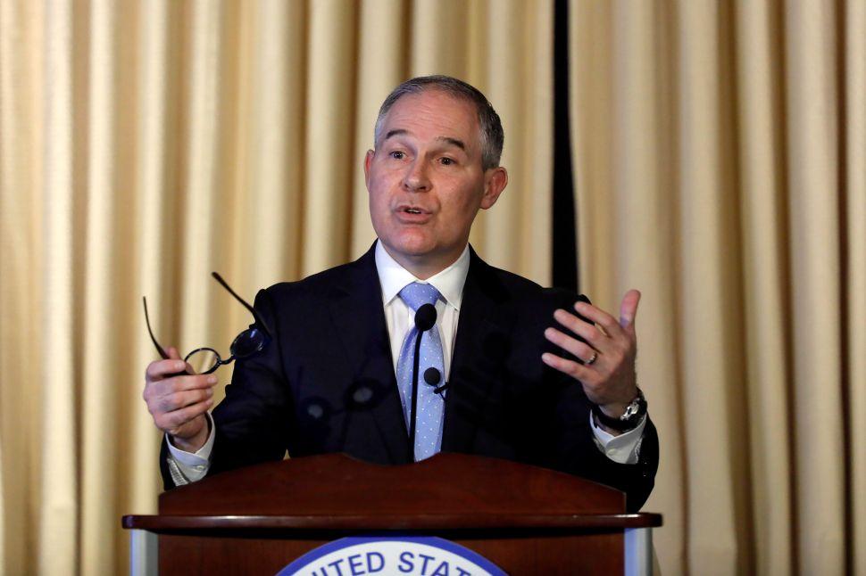 Scott Pruitt Rebrands EPA's Website In Attempt to Delete Climate Change