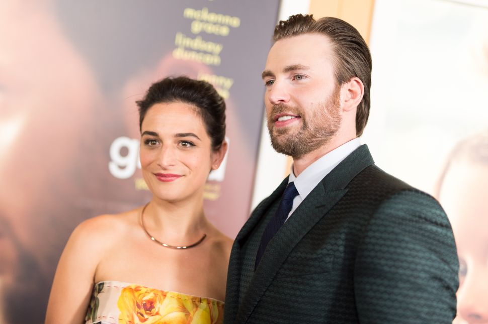 Jenny Slate And Chris Evans Reunited in Atlanta