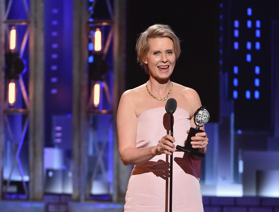 Cynthia Nixon Hosts National Book Awards; Possible Prelude to NY Governor's Race?
