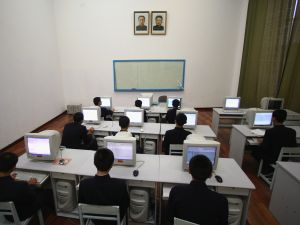 Children in computer class in Pyongyang, North Korea.