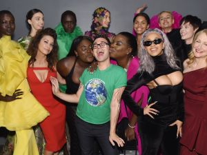 Christian Siriano in celebration mode.