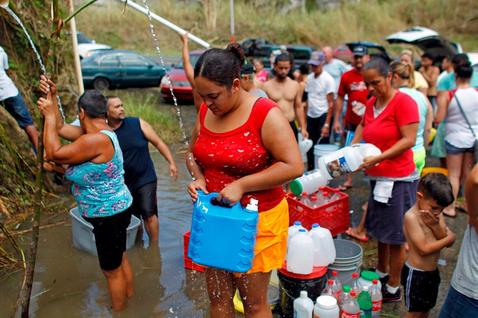 Most Puerto Ricans Sleep Outside, Lack Electricity and Potable Water