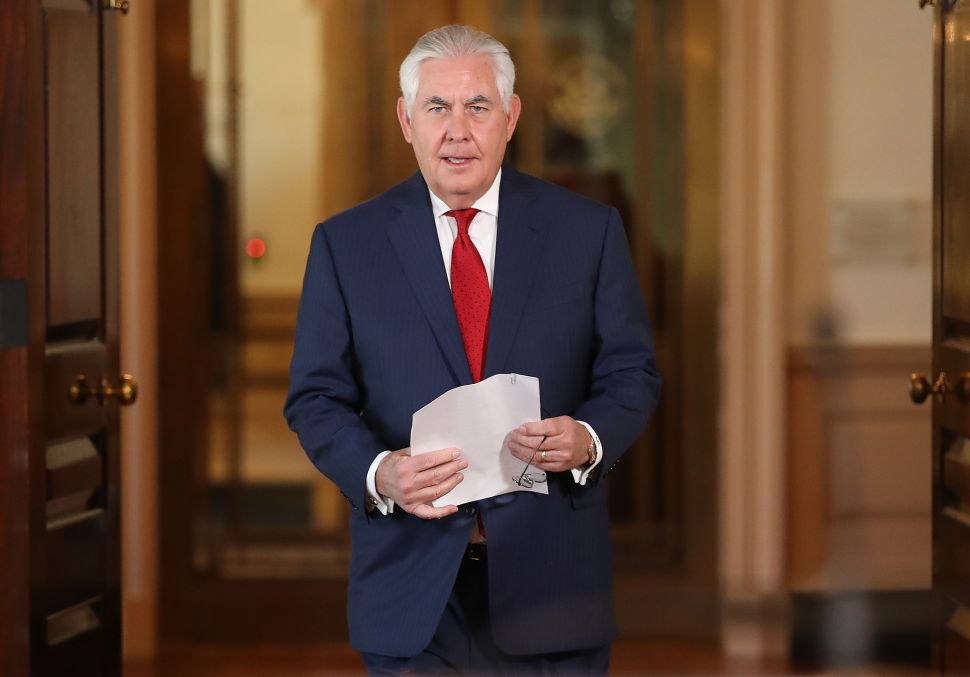 Rex Tillerson Calls Resignation Rumors 'Erroneously Reported'