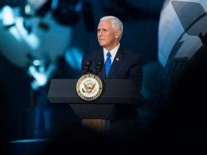 Vice President Mike Pence on October 5, 2017 in Chantilly, Va.