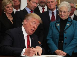 """President Trump signed the executive order to loosen restrictions on Affordable Care Act """"to promote healthcare choice and competition."""""""
