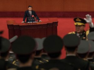 Chinese President Xi Jinping speaks at the opening session of the 19th Communist Party Congress held at The Great Hall Of The People on October 18, 2017 in Beijing, China.