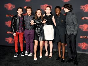 Click through to see more adorable pics of the Stranger Things kids.