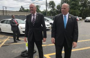 Phil Murphy (left) and Steve Sweeney