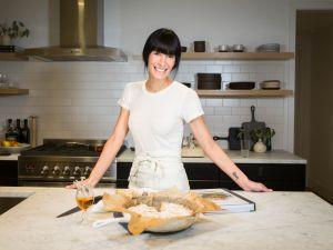 Athena Calderone in her kitchen.