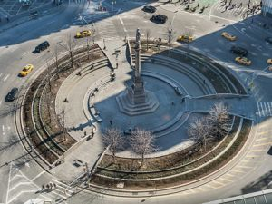 Aerial View of Columbus Circle - New York