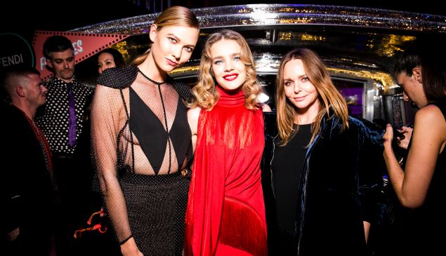 Karlie Kloss, Natalia Vodianova, Stella McCartney.