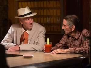 David Lynch and Harry Dean Stanton in Lucky.