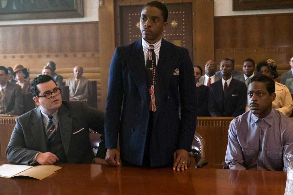 The Woman Behind Chadwick Boseman's Impeccable 'Marshall' Attire