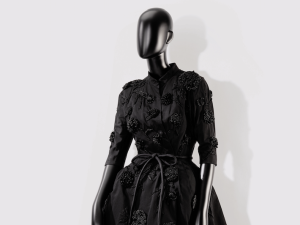 A Balenciaga frock sold at Sotheby's.