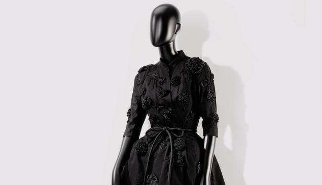 A Balenciaga frock sold at Sotheby's.