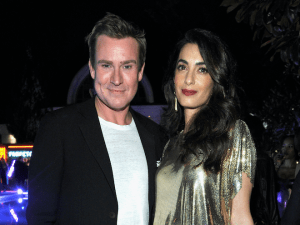 William Banks-Blaney and Amal Clooney.