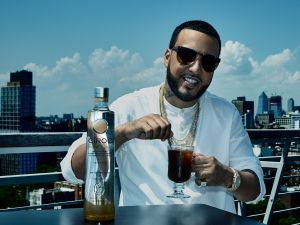 French Montana sips his Cîroc and coffee cocktail.