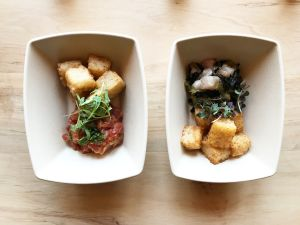 Get your crispy-rice tots with spicy tuna or yellowtail