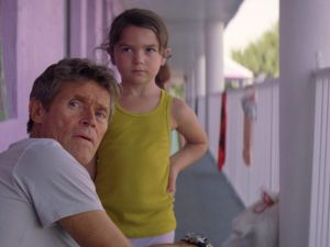 Willem Dafoe and Brooklyn Kimberley Prince in The Florida Project.