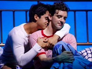 Michael Rosen and Michael Urie in Torch Song.