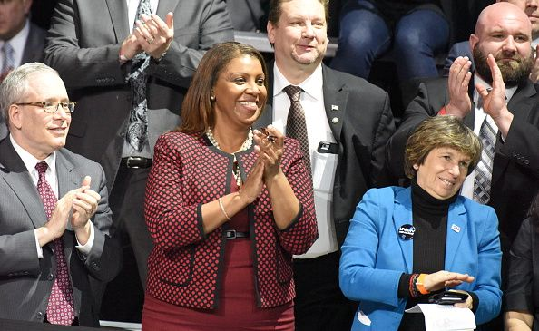 Comptroller Scott Stringer, left, and Public Advocate Letitia James, right, are among rumored candidates for New York City mayor in 2021.