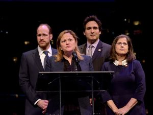 Left to right: Brooklyn Councilman David Greenfield; City Council Speaker Melissa Mark-Viverito; Manhattan Councilman Ben Kallos; and Manhattan Councilwoman Helen Rosenthal.