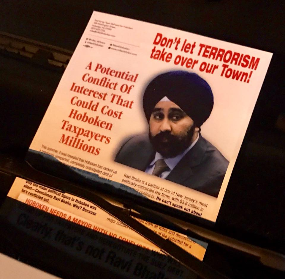 Racist Campaign Literature Surfaces in New Jersey