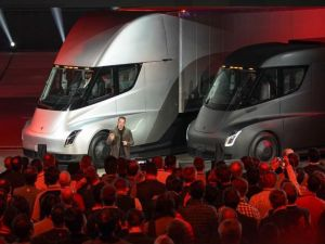 Elon Musk unveils the Tesla Semi truck.